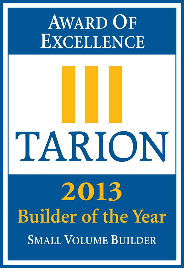 Tarion Award 2013 Builder of the Year