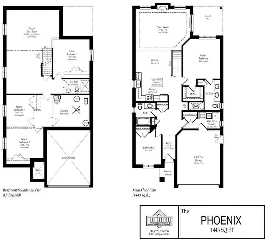 The phoenix house plan parry homes inc for Home planners inc house plans