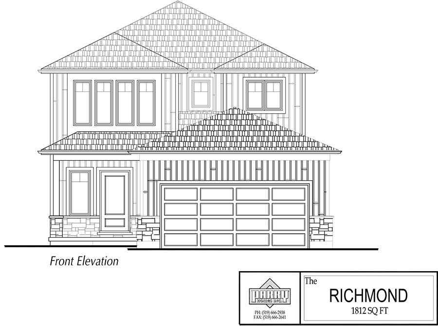 The Richmond House Plan Parry Homes Inc